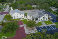 Aerial of Chapel & Hall