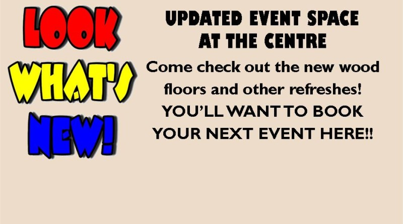 Updated Event Space at The Centre