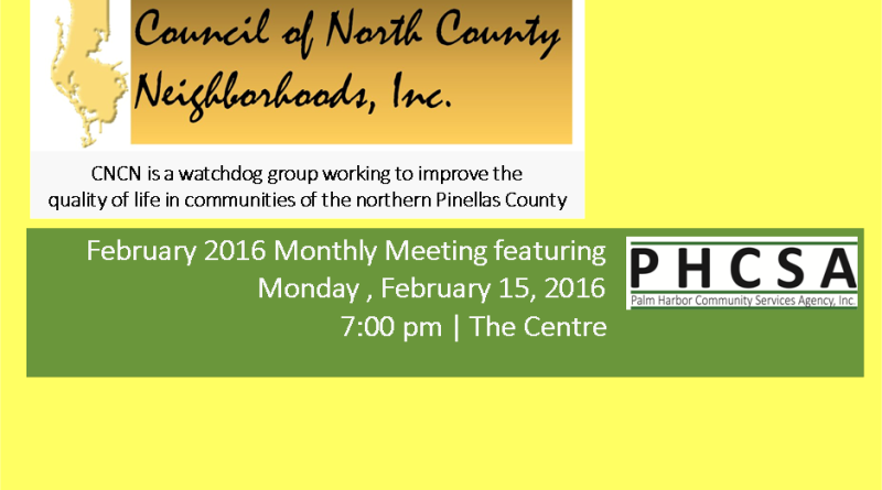Monthly Council Meeting | February 15, 2016
