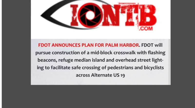 LOCAL NEWS:  FDOT Palm Harbor Plan