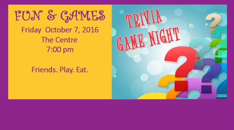 Trivia Game Night | October 7, 2016