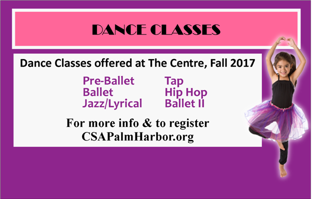 Fall 2017 Dance Classes. Sign up now!