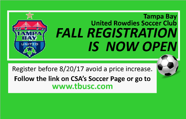 Fall Soccer Registration is OPEN!