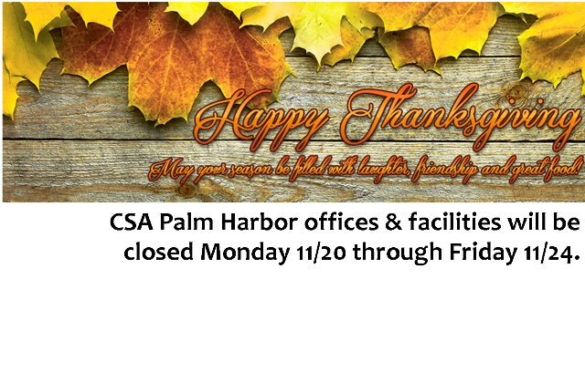 Happy Thanksgiving from all of us at CSA!