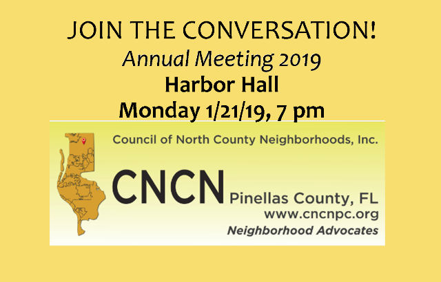 CNCN Annual Meeting   January 21, 2019
