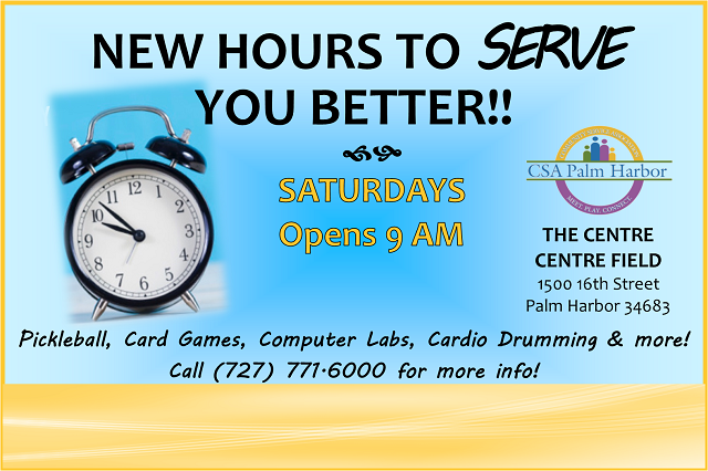 NEW!!  Saturday hours, open at 9 AM!