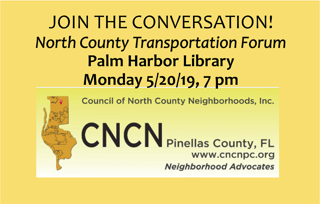 North County Transportation CNCN Forum | May 20, 2019