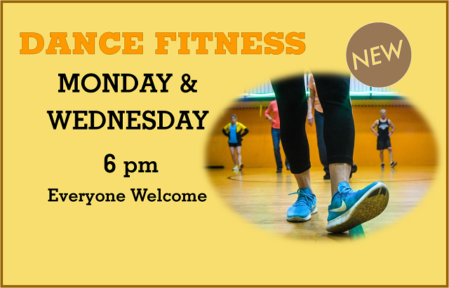 Dance Fitness | Monday & Wednesday, 6 pm
