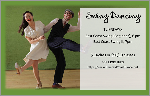 Swing Dancing | Tuesdays 6 PM & 7 PM