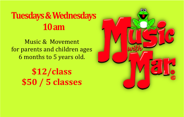 Music with Mar | Tuesdays & Wednesdays, 10 am