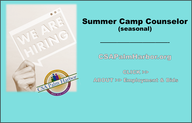 NOW HIRING: Summer Camp Counselor