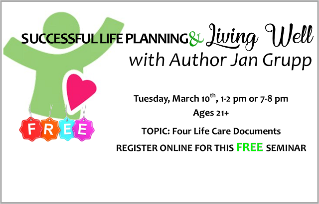 NEW! Life Planning & Living Well | March 10, 2020