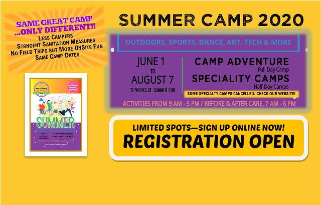 SUMMER CAMP – Day & Specialty Camp Spaces Available!