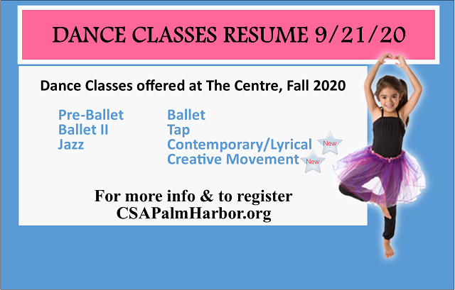 Fall 2020 Dance Classes. Sign up now!