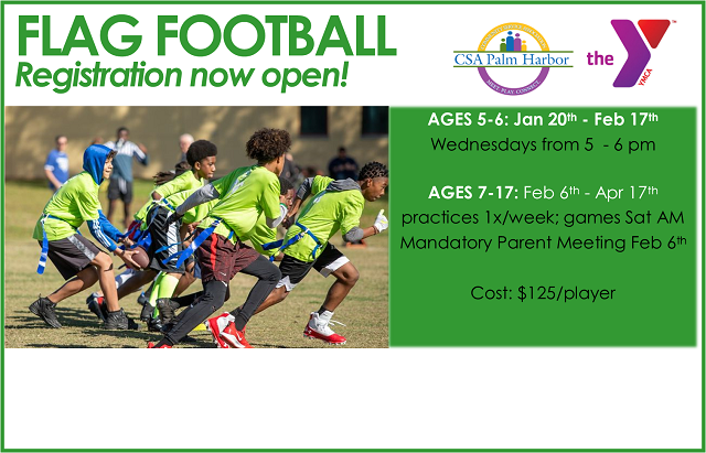 2021 Youth Flag Football League. Registration open!
