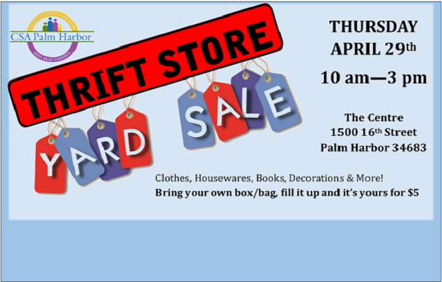 Thrift Store Yard Sale | Thursday 4/29/21